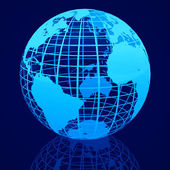 3D Wire-frame globe — Stock Photo