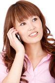 Affärskvinna på telefonen — Stockfoto