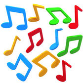Colorful music notes — Foto Stock