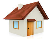 3D Tiled roof house — Stock Photo
