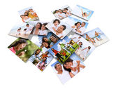 Family photos — Stock Photo