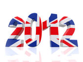 3D Year 2012 in Great Britain — Stock Photo