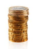 Pile of euro coins — Stock Photo