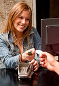 Paying by card — Stock Photo