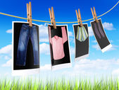 Clothes to dry — Stock Photo