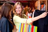 Beautiful women shopping — Stock Photo
