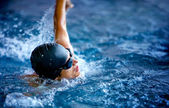 Professional male swimmer — Stock Photo