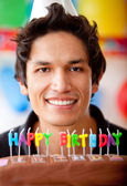 Birthday guy — Stock Photo