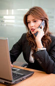 Business woman working — Stock Photo