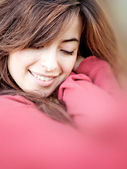 Woman cuddling — Stock Photo