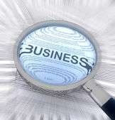 Business with a magnifying glass — Photo