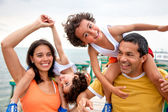 Family on vacations — Foto de Stock
