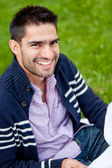 Male student outdoors — Stock Photo