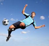 Giocatore di gioco del calcio — Foto Stock