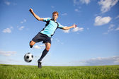 Football player — Stockfoto