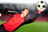 Football goalkeeper — Stock Photo