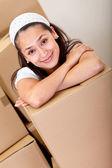 Girl moving — Stock Photo