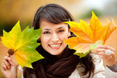 Autumn woman portrait — Stock Photo