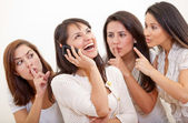 Loud woman on the phone — Stock Photo