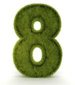 3D sayısı sekiz — Stok fotoğraf