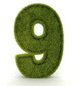 3D One in grass — Stock Photo