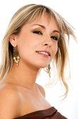 Blond fashion girl portrait — Stock Photo