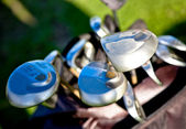 Abstract golf clubs — Stock Photo