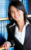 Podnikání žena portrét v kanceláři — Stock fotografie