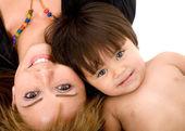 Baby and her mum — Stock Photo