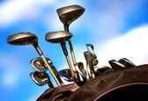 Golf clubs — Stock Photo