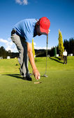 Male golfer — Foto Stock