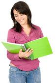 Studentessa con notebook — Foto Stock