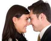 Casal jovem de negócios — Foto Stock