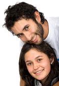 Beautiful young couple portrait — Stock Photo