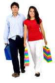 Couple shopping out — Stock Photo