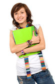 Female student with notebooks — Foto Stock