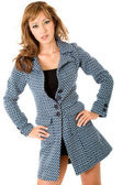 Fashion woman portrait - coat — Stock Photo