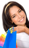 Beautiful girl out shopping — Stock Photo