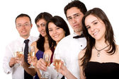 Group of friends at a party — Stock Photo
