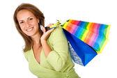 Girl with shopping bags — Foto de Stock