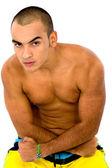 Fitness male portrait — Stock Photo