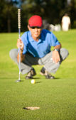 Male golfer — Stock Photo