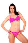 Bikini girl in pink — Stock Photo