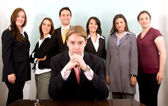 Business leadership and teamwork — Stock Photo