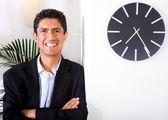 Retrato de hombre de negocios feliz — Foto de Stock