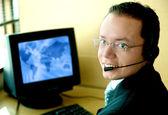 человек обслуживания клиентов — Стоковое фото