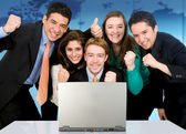 Business success team in an office — Stock Photo