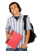 Happy male student portrait — Stock Photo