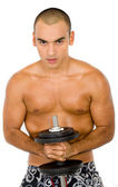 Man lifting weights — Foto Stock