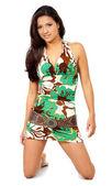 Female portrait in a summer dress — Stock Photo